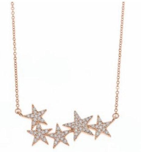 Gargantilla 5 estrellas centrales