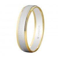 Alianza de oro bicolor 4,5 mm