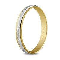 Alianza de oro bicolor 3 mm