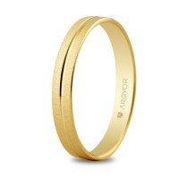 Alianza de oro biselada 3 mm