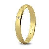 Alianza de oro y diamante 3 mm