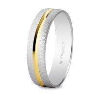 Alianza de oro bicolor 4 mm
