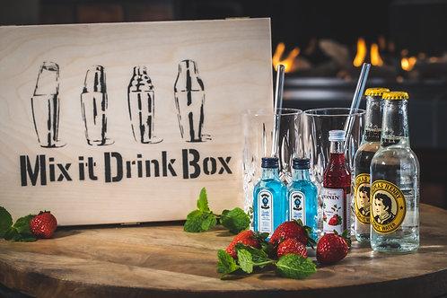 Erdbeer Gin Tonic Mix it Drink Box