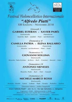 Festival Piatti - Cello solo