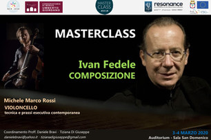 Cello Solo: Masterclass and Concert with Ivan Fedele