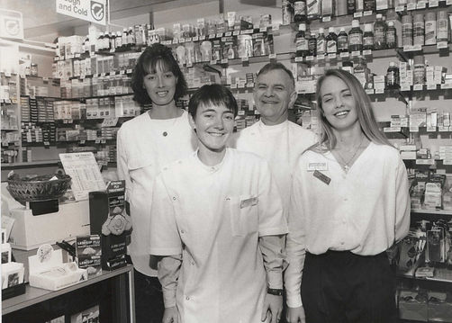 Rob Stewart and staff in old store 17.6.