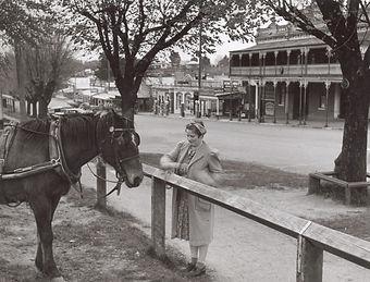 McDonald, Ethel ties her horse.jpg
