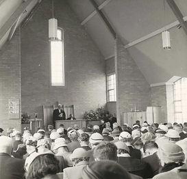 Rev JJ Scott inside new church opening 2