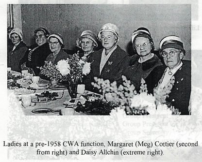 Pre 1958 CWA function Meg Cottier second