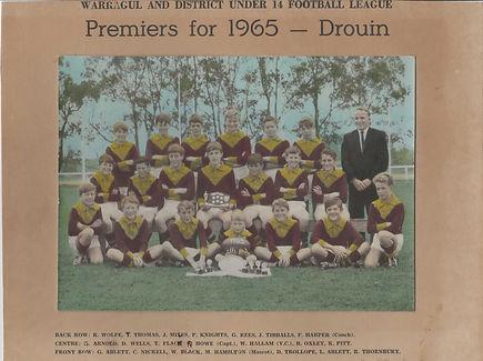 1965 football under 14 Fred Harper coach