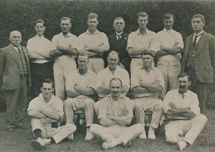 1918-19 Cricket J harper front row left.