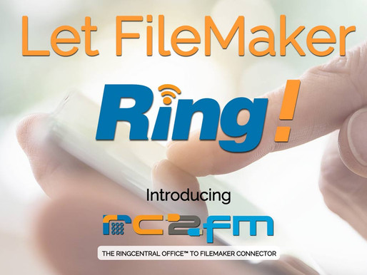 "Announcing RC2FM: Let FileMaker ""Ring""!"