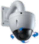 HD PTZ (Pan-Tilt-Zoom) digital IP camera can zoom in to 1200% optically, pan at 300 degrees per second, tilt at 200 degrees per second, and rotate 360 degrees