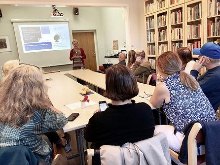 Margareta Wärja föreläser om forskning