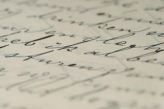 handskrivet brev i bläck