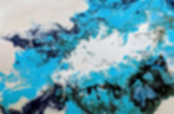 blå och vit abstrakt målning