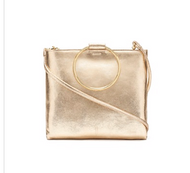 Thacker gold crossbody handbag