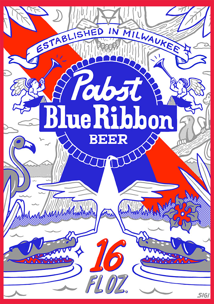 Pabst Beer Can Label