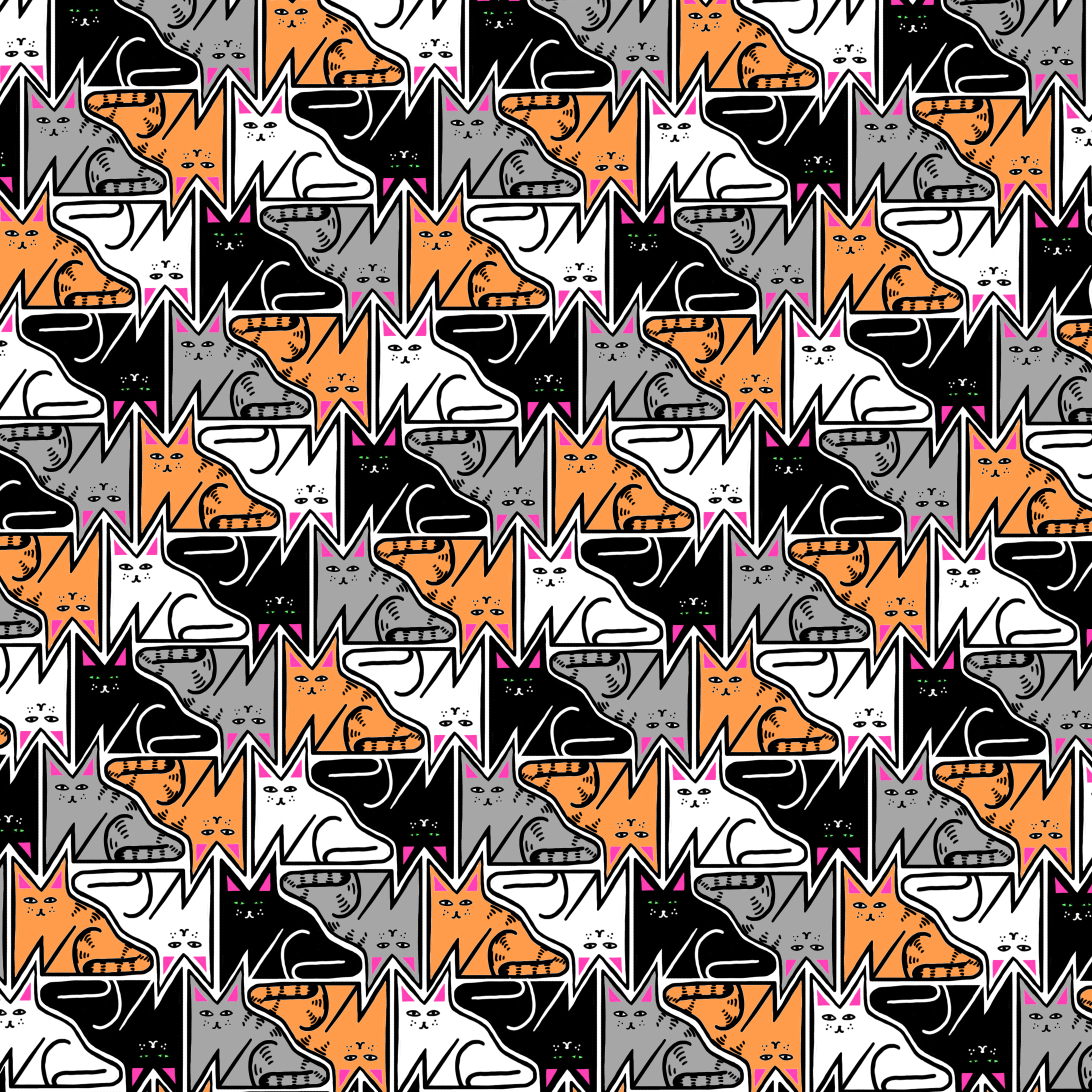 Catto Pattern, Photoshop