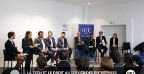 Intervention à la conférence HEC x Avotech : la tech et le droit au service des entreprises