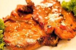 Pan-Fried Teriyaki Pork Steak