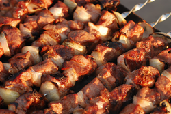Barbecued Venison Kabobs