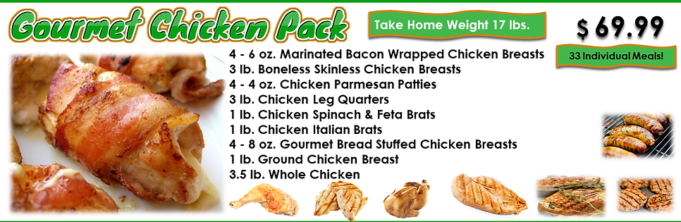 Gourmet Chicken Pack
