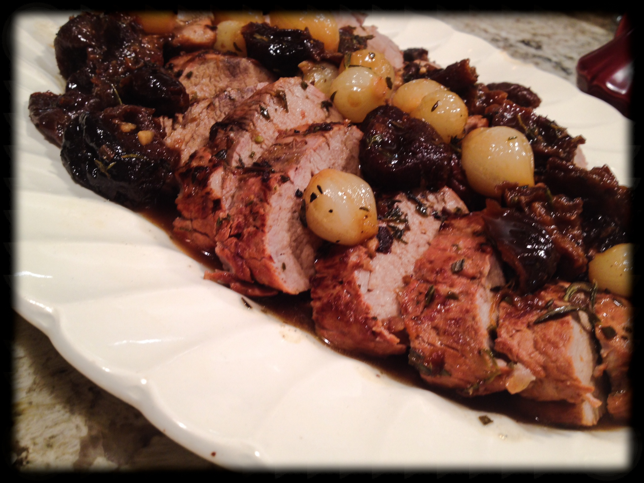 Pork Tenderloin with Prune Sauce