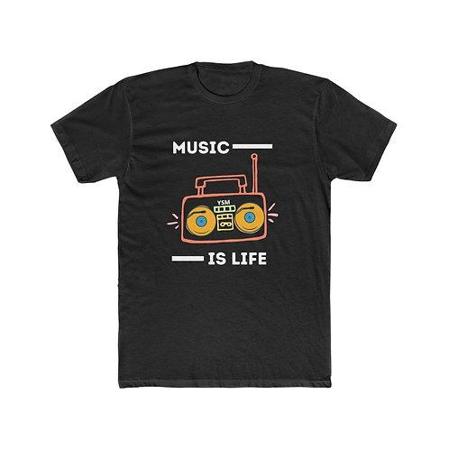 "Men's ""Music is Life"" Short Sleeve Tee"