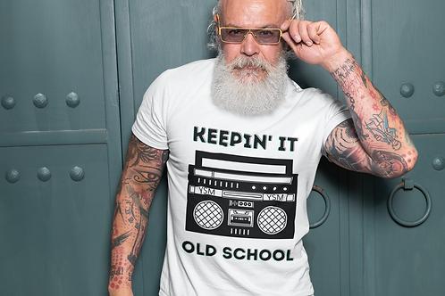 Men's KEEPIN' IT OLD SCHOOL Cotton Crew Tee