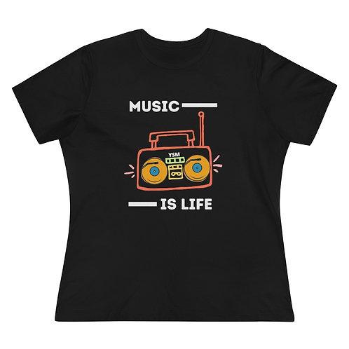 "Women's ""Music is Life"" Tee"