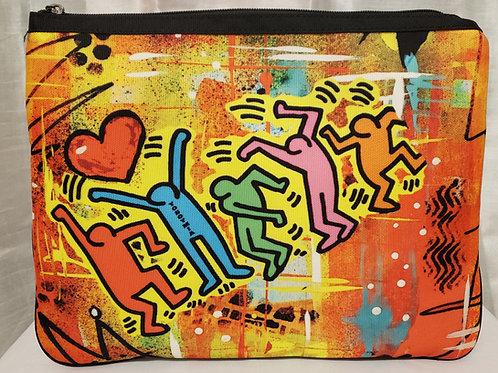 Messenger/clutch canvas bag