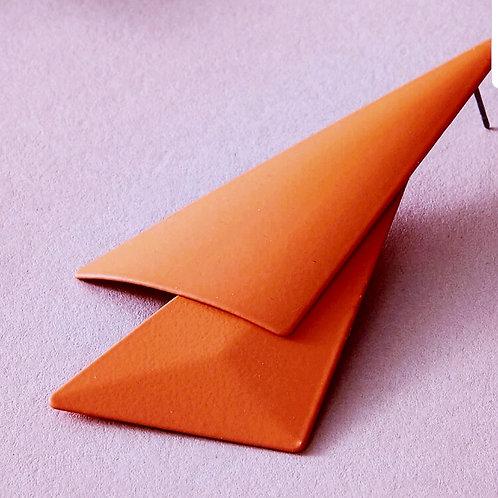 Orange Mod Geo Shape Earrings