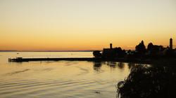 Sonnenuntergang Schloss Montfort