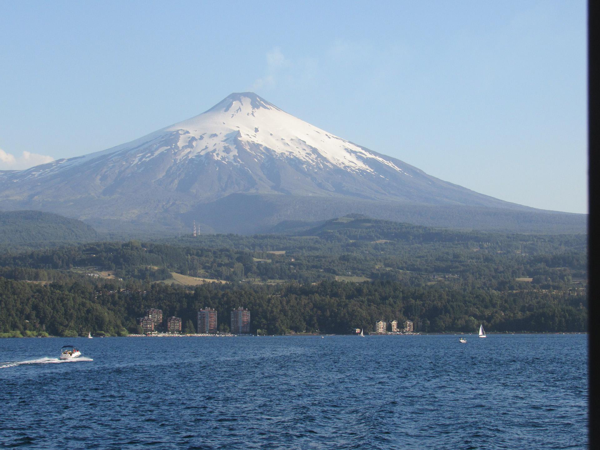 El gran volcán Villarrica