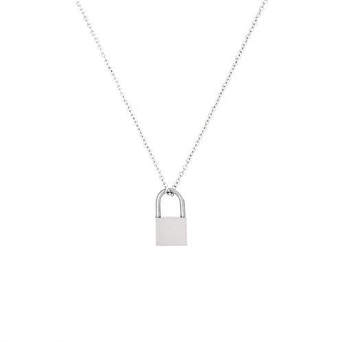 Lock Necklace Silver
