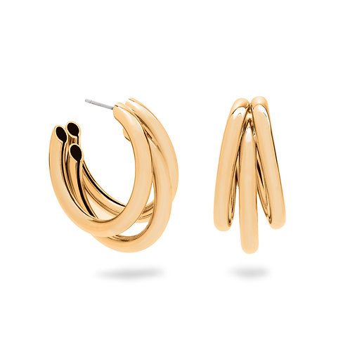 Grace Hoops Gold