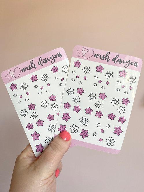 Cherry Blossom Sticker Sheet