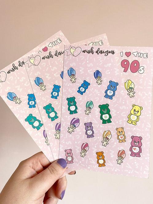 Care Bear/Trolls Large Sticker Sheet