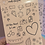 Thumbnail: Red Classic Doodles Large Sheet
