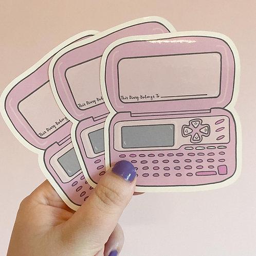 Dear Diary Large Sticker