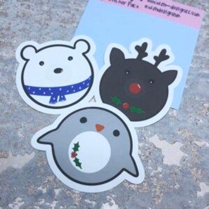 Christmas Doughnut Large Sticker Pack
