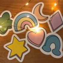 Marshmallow Shapes Large Sticker Pack