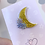 Thumbnail: Moon & Flowers Hard Enamel Pin