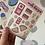 Thumbnail: Pink Retro Small Sticker Sheet
