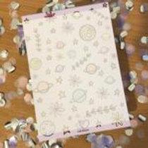 Botanical Galaxy A6 Notepad