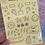 Thumbnail: Yellow Classic Doodles Large Sheet