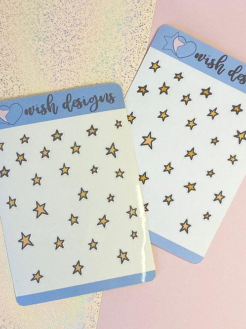 Stars Doodles Sticker Sheet