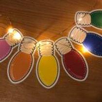 Christmas Lights Large Sticker Pack