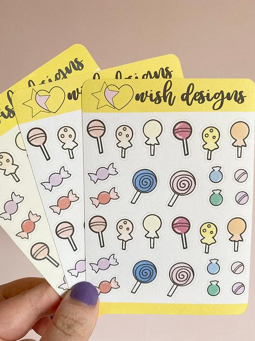 Candy/Lollies Sticker Sheet